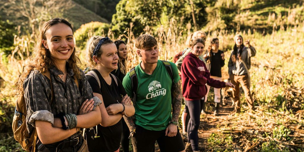 A career in conservation could be about organising volunteer work and free-time trips for those volunteering abroad