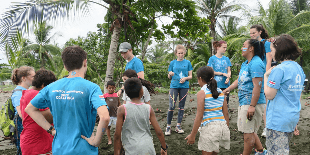 A group of high school students contribute to our community development project in Quepos, Costa Rica.