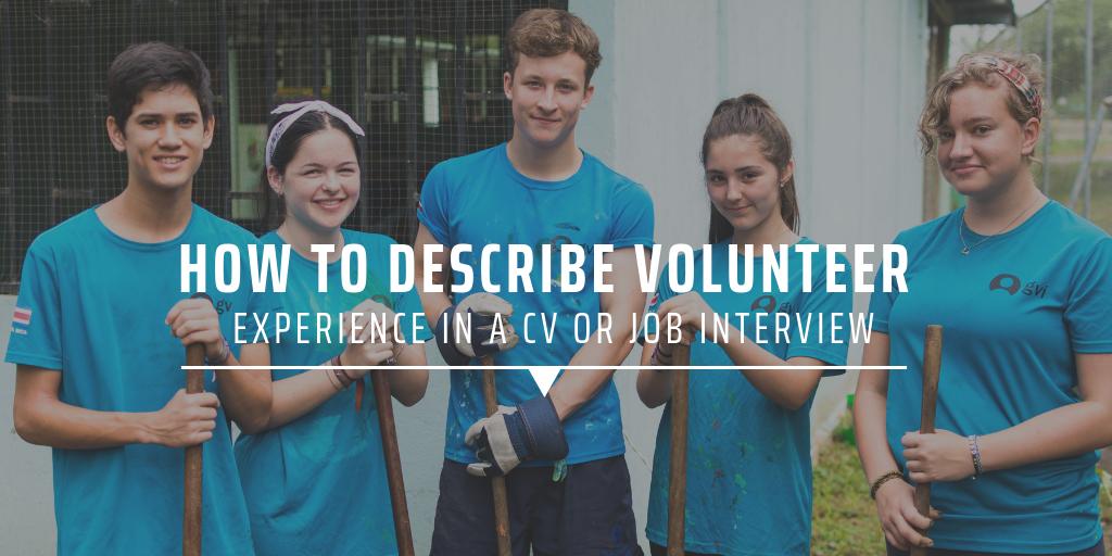 volunteer experience on resume examples