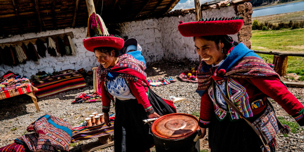 Volunteer on a women's empowerment project in Peru