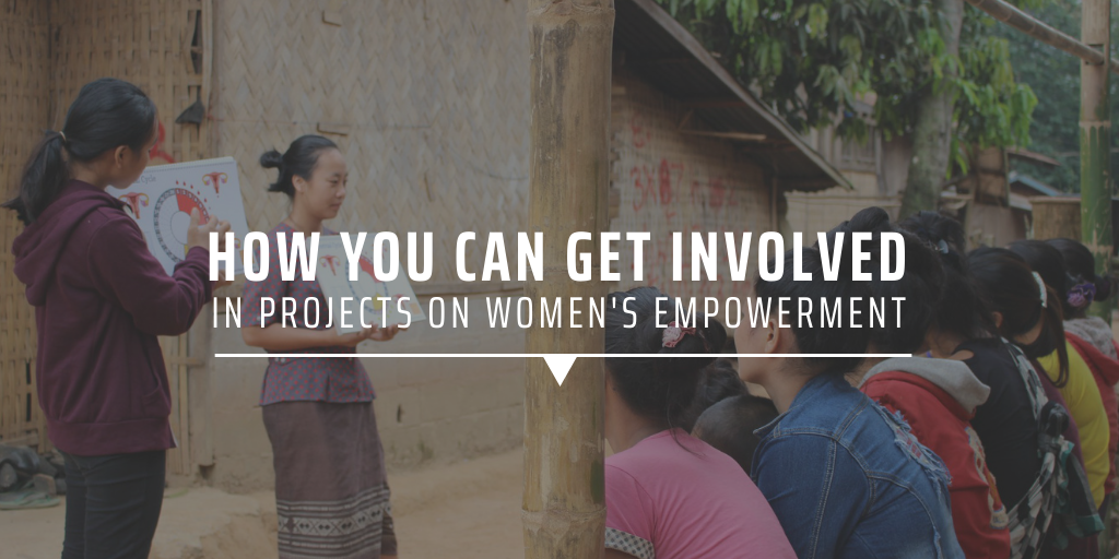 How can you get involved in projects on women's empowerment?