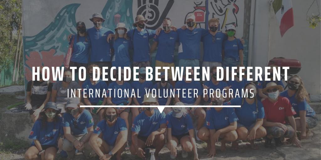 How to decide between different international volunteer programs