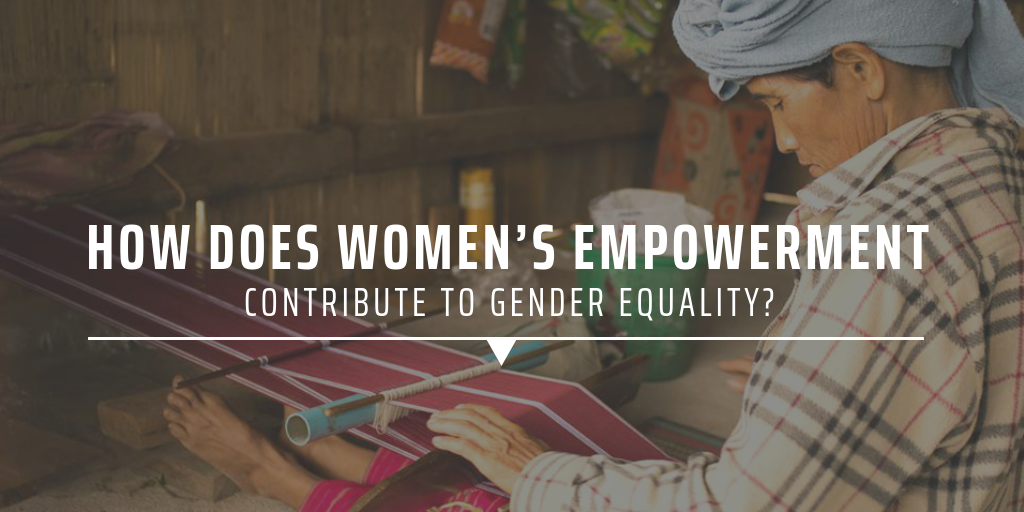 How does women's empowerment contribute to gender equality?
