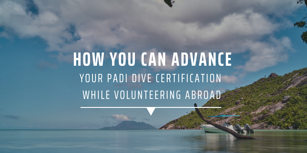 How you can advance your PADI dive certification while volunteering abroad.