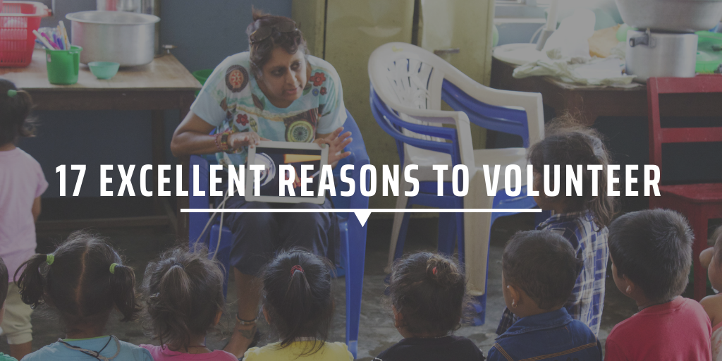 17 excellent reasons to volunteer