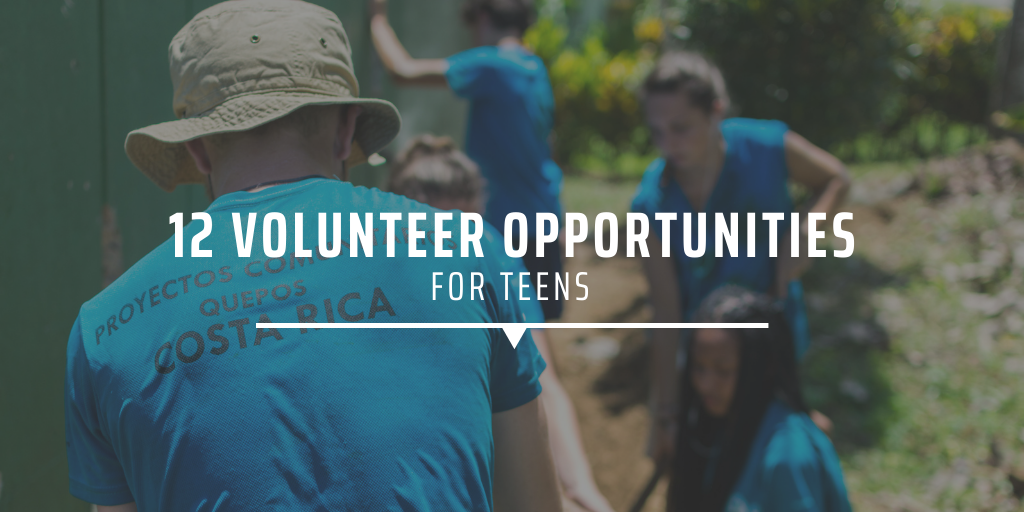 12 volunteer opportunities for teens